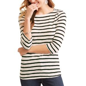 TIME AND TRU | Women's Boatneck 3/4 Sleeve Tee S